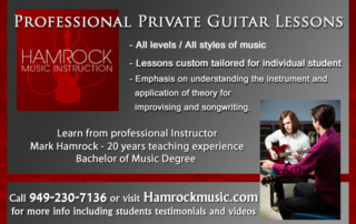 Professional Guitar Teacher in Orange County
